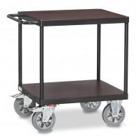 Fetra Schwerlast-Tischwagen mit zwei Ebenen, Grey Edition