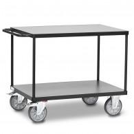 Fetra Tischwagen mit zwei Ebenen, Grey Edition