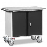 Fetra Werkstattwagen mit zwei Schränken, abschließbar, Grey Edition