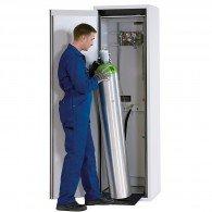 Druckgasflaschenschrank für 1 Stück 50l-Gasflasche, Typ 90- Breite 600mm, Türfarbe grau oder gelb, DIN L oder DIN R, G-Ultimate-90