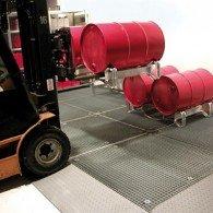 Bodenschutzwanne aus Stahl verzinkt, 22-223l, Höhe 123mm