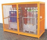 Gasflaschen-Container für 48 St. Flaschen