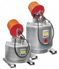Mobile Dieseltankanlage 400l, 600l oder 980l, einwandig, feuerverzinkt, mit abschließbarer Pumpehaube
