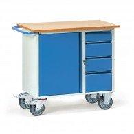 Werkstattwagen mit einem Schrank und vier Schubladen, abschließbar