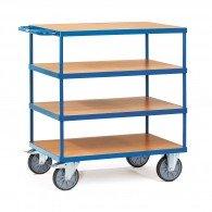 Tischwagen mit vier Ebenen und Schiebebügel