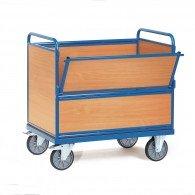 Kasten-Transportwagen mit Holzwänden