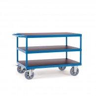 Schwerlast- Tischwagen mit drei Ebenen und Schiebebügel