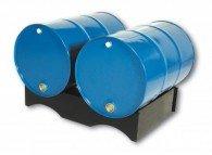 Fasspalette aus PE-HD für 2 Stück 200l-Fässer