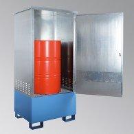 Fass-Schrank aus Stahl, für 1 oder 2 Stück 200l-Fässer