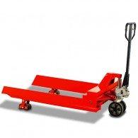 Rollenhubwagen zum Transport von runden Teilen
