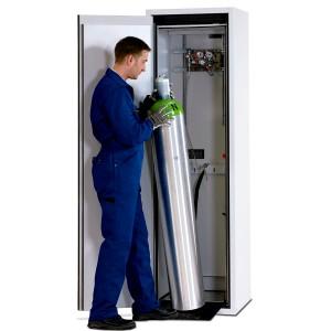 00500003 - Druckgasflaschenschrank für 1 Stück 50l-Gasflasche, Typ 90, Breite 600mm, DIN L, lichtgrau - G-Ultimate 90