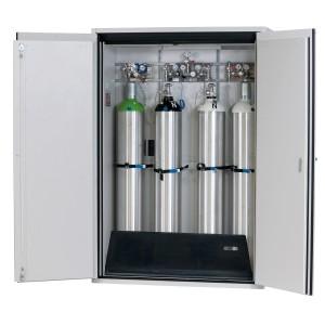 Druckgasflaschenschrank Typ 90- Breite 1400mm, lichtgrau oder sicherheitsgelb, G-Ultimate-90