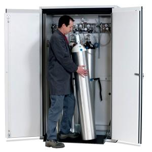 00500010 - Druckgasflaschenschrank Typ 90-Breite 1200mm, lichtgrau, G-Ultimate-90