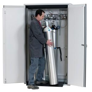 0050001001 - Druckgasflaschenschrank Typ 90-Breite 1200mm, sicherheitsgelb, G-Ultimate-90