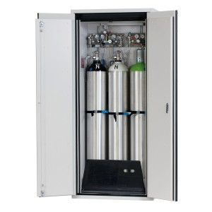 00500036 - Druckgasflaschenschrank Typ 90- Breite 900mm, Türfarbe grau, G-Ultimate-90