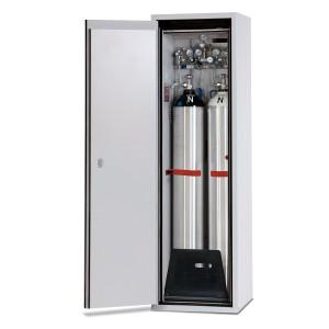 00500044 - Druckgasflaschenschrank Typ 90- Breite 600mm, Türfarbe grau, DIN L, G-Ultimate-90