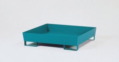 00500111 - Auffangwanne aus Stahl 200l, lackiert, ohne Gitterrost, mit Füßen, für 1x200l-Fass und Kleingebinde