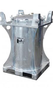 Mobile Diesel/Heizöl-Tankanlage, 235l, mit Hand- oder Elektropumpe, Außenbehälter mit Grundrahmen als Auffangwanne mit eingeschraubtem Innentank
