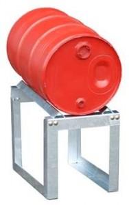 00600222 - Fassauflage aus Stahl, verzinkt, für 1 Stück 60l-Fass
