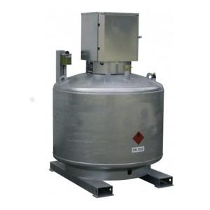 00800038 - Mobile Diesel- Tankanlage, 400l, 600l oder 980l, einwandig, feuerverzinkt, mit abschließbarem Pumpenschrank