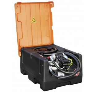 0080016203 - Mobile Benzin Tankanlage 190l, KS-Mobil Easy, mit Elektropumpe 12V und Klappdeckel