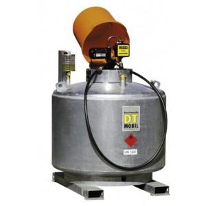 00800052 - Mobile Dieseltankanlage, doppelwandig, 400l, 600l oder 980l, feuerverzinkt, mit Pumpenhaube