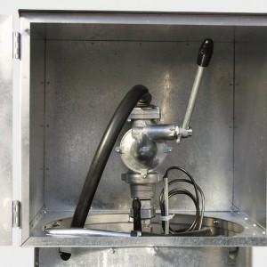 00800067 - Handpumpe für Benzin-Tankanlage, ca. 40l/min, mit Auslaufkrümmer