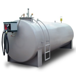 00800070 - Diesel-Tankanlage aus Stahl, 4.000l, doppelwandig