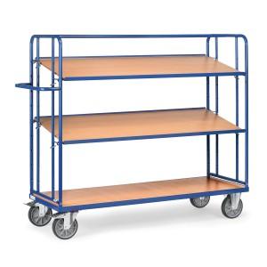 01600105 - Etagen- Transportwagen mit drei Ebenen und Schiebebügel