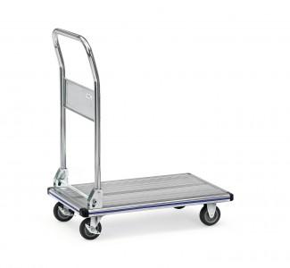 Alu- Transportwagen mit klappbarem Schiebebügel