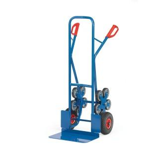 01600033 - Treppen-Sackkarre mit Fünfer-Radsternen und breiter Schaufel
