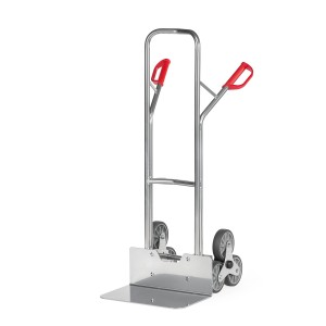 01600035 - Aluminium-Treppen-Sackkarre mit Dreier- Radstern