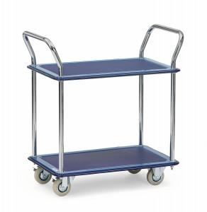 01600042 - Tischwagen, Ganzstahl mit zwei Ebenen