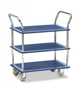 01600043 - Tischwagen, Ganzstahl mit drei Ebenen