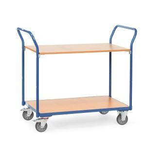 01600048 - Tischwagen mit zwei Ebenen und hochstehendem Schiebebügel