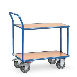 01600049 - Tischwagen mit zwei Ebenen und hochstehendem Schiebebügel