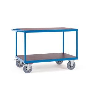 0160007701 - Schwerlast- Tischwagen mit zwei Ebenen und Schiebebügel