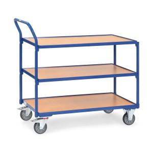 01600081 - Tischwagen mit drei Ebenen und hochstehendem Rohrschiebebügel