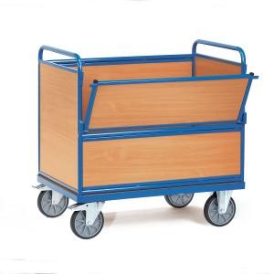 01600115 - Kasten-Transportwagen mit Holzwänden