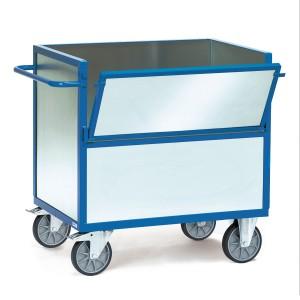 01600119 - Kasten- Transportwagen mit Stahlblechwänden