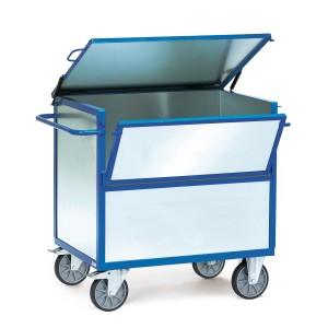 01600120 - Kasten-Transportwagen mit verzinkten Stahlblechwänden und Deckel