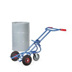 01600329 - Fasskarre 300kg mit Stütz-Lenkrolle