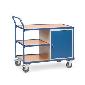 01600401 - Werkstattwagen mit drei Ebenen und einem Schrank, abschließbar