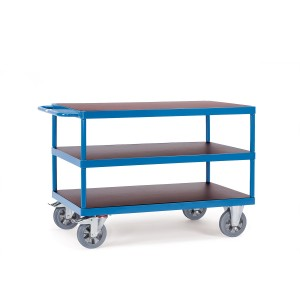 01600439 - Schwerlast- Tischwagen mit drei Ebenen und Schiebebügel