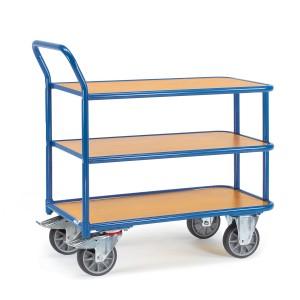 01600460 - Tischwagen mit drei Ebenen und hochstehendem Schiebebügel
