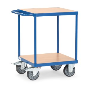 01600495 - Tischwagen mit zwei Ebenen und Schiebebügel