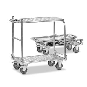 01600543 - Alu-Tischwagen / Transportwagen, klappbar mit zwei Ebenen