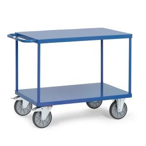 01600548 - Tischwagen mit zwei Stahlblechplattformen und Schiebebügel
