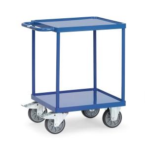 01600549 - Tischwagen mit Stahlblech-Wannen und Schiebebügel