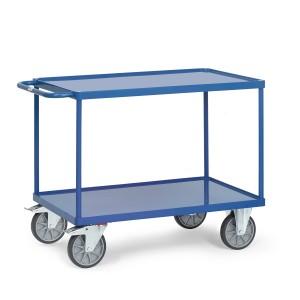 01600550 - Tischwagen mit Stahlblech-Wannen und Schiebebügel